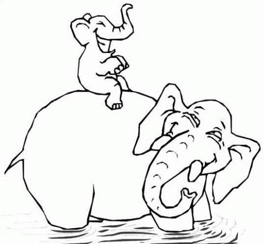 Elefante da colorare 39