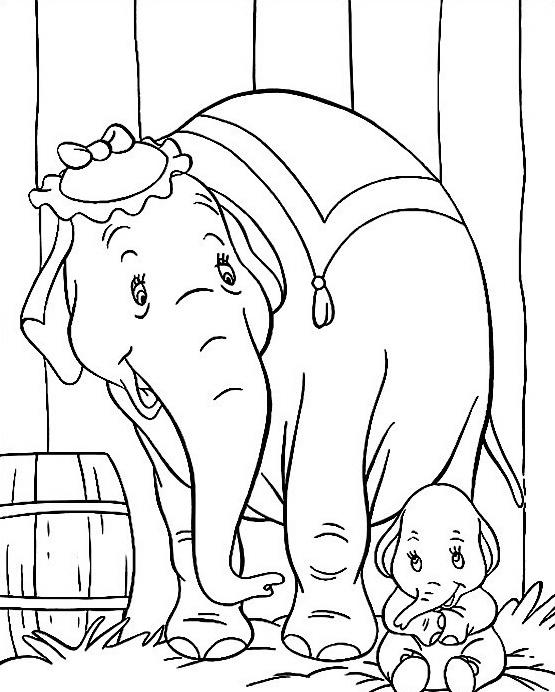 Elefante da colorare 40