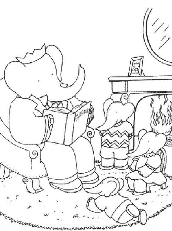 Elefante da colorare 41