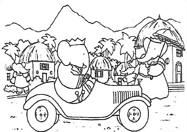 Elefante da colorare 42