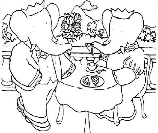 Elefante da colorare 49