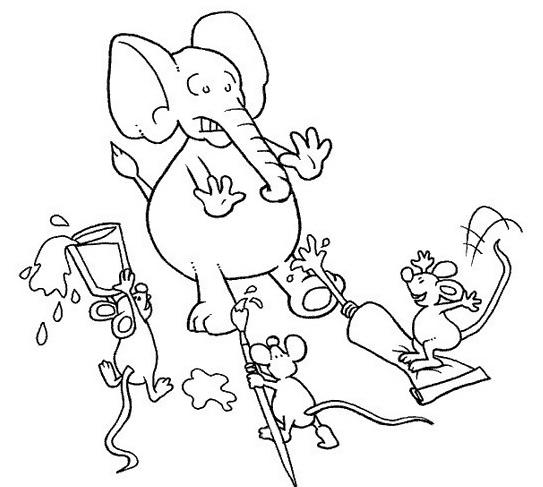 Elefante da colorare 50