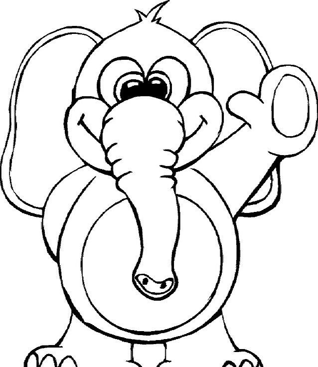 Elefante da colorare 55