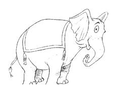 Elefante da colorare 56