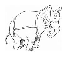 Elefante da colorare 57
