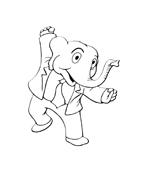 Elefante da colorare 59