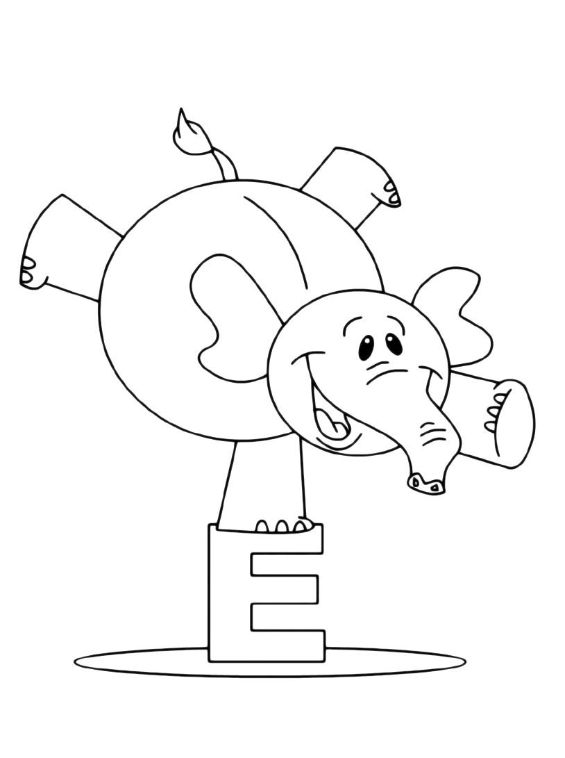 Elefante da colorare 63