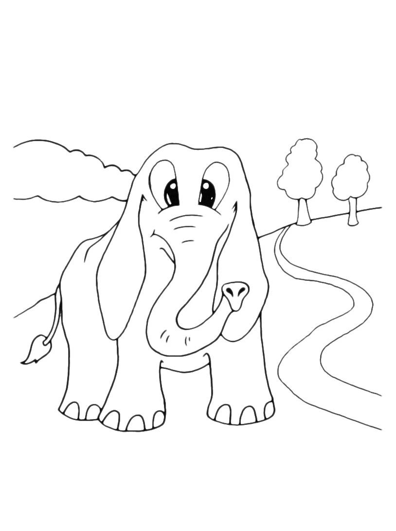 Elefante da colorare 64
