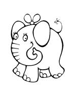 Elefante da colorare 69