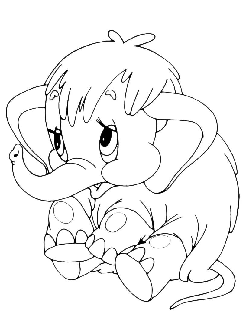 Elefante da colorare 73