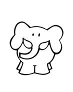 Elefante da colorare 74