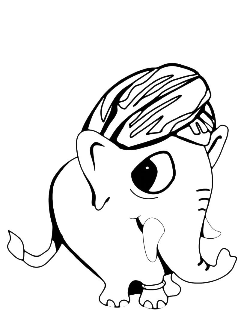 Elefante da colorare 75