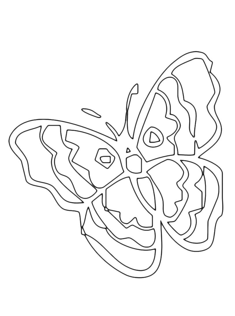 Farfalla da colorare 87