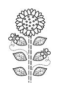 Fiore da colorare 77