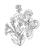 Fiore da colorare 100