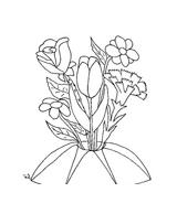 Fiore da colorare 137