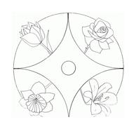 Fiore da colorare 163