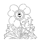 Fiore da colorare 172