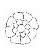 Fiore da colorare 248