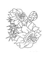 Fiore da colorare 268