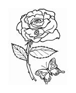 Fiore da colorare 272