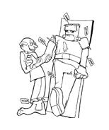 Frankenstein da colorare 3
