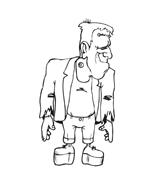 Frankenstein da colorare 15