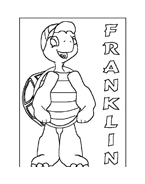 Franklin la tartaruga da colorare 55