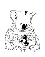 Fratelli-koala da colorare 6