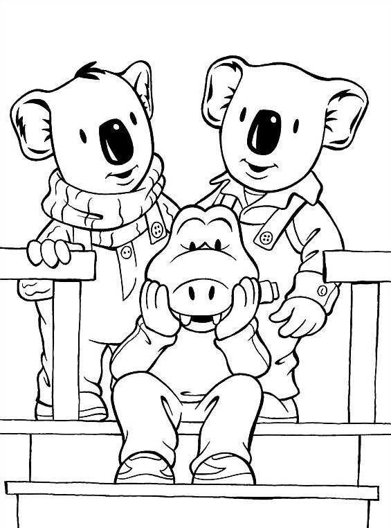 Fratelli-koala da colorare 28