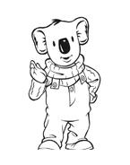 Fratelli-koala da colorare 32