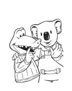 Fratelli-koala da colorare 47