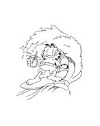 Garfield da colorare 104