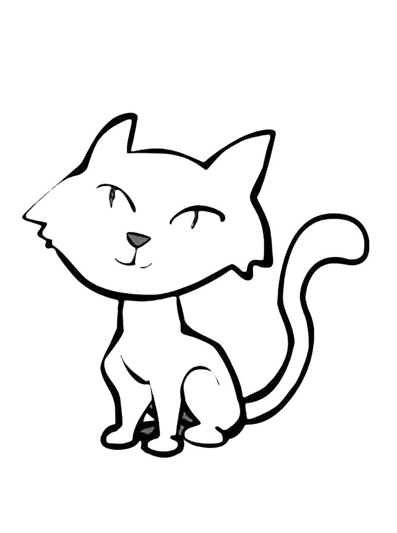 Gatto da colorare 56