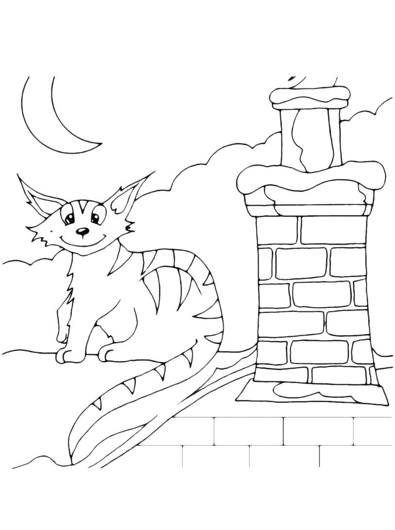 Gatto da colorare 65