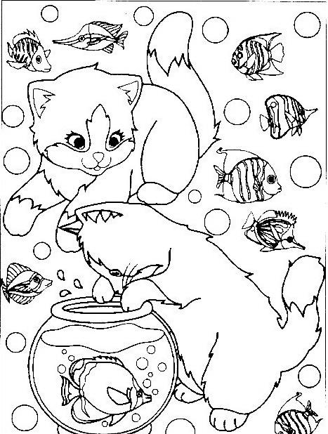 Gatto da colorare 83