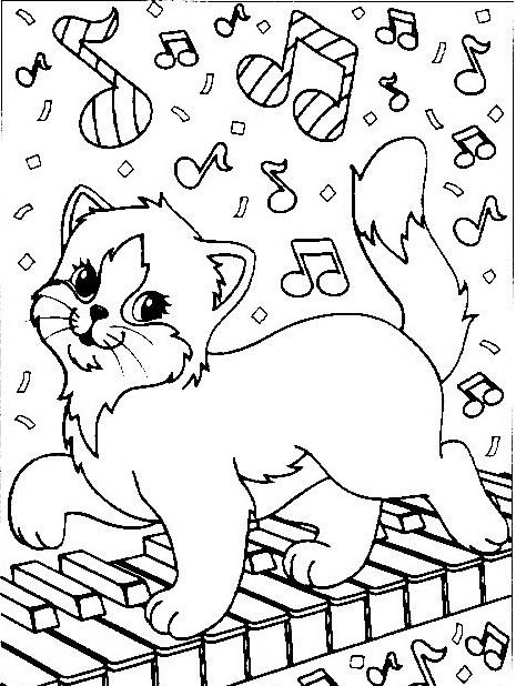 Gatto da colorare 84