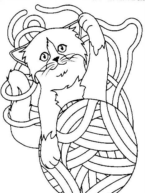 Gatto da colorare 88