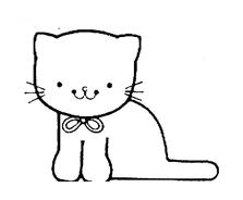 Gatti da colorare 100