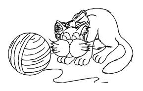 Gatti da colorare 106