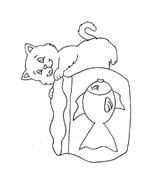 Gatti da colorare 110