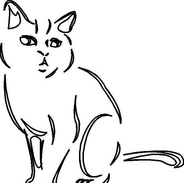 Gatto da colorare 118