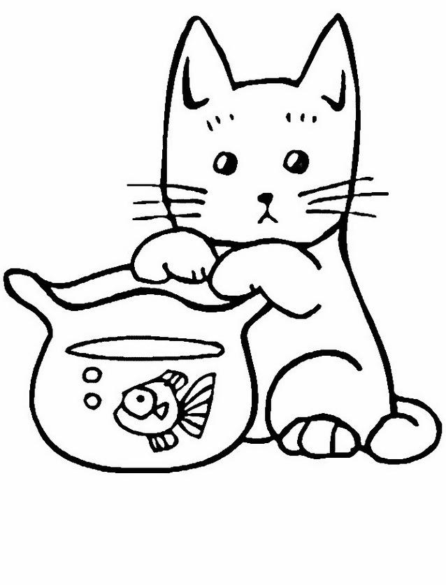 Gatto da colorare 127