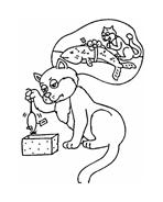 Gatti da colorare 136