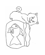 Gatti da colorare 145