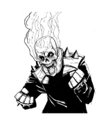 Ghost rider da colorare 2