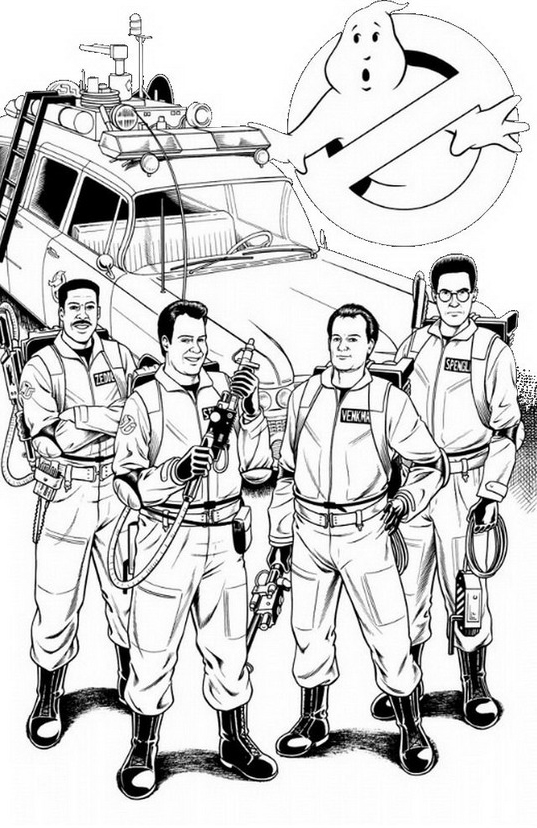 Ghostbusters da colorare 2