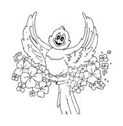 Uccello da colorare 168