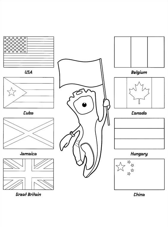 Giochi olimpici da colorare 2