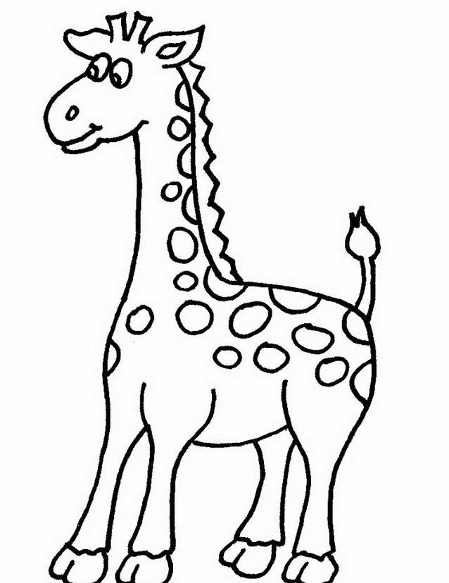 Giraffa da colorare 4